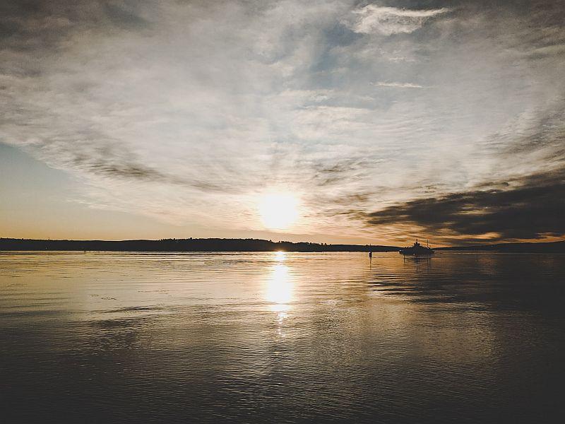 Nordisches Licht auf der Halbinsel Bygdøy