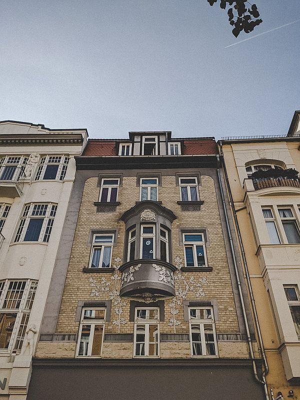 Weißenfels Sehenswürdigkeiten - Kunstvolle Hausfassaden in der Jüdenstraße