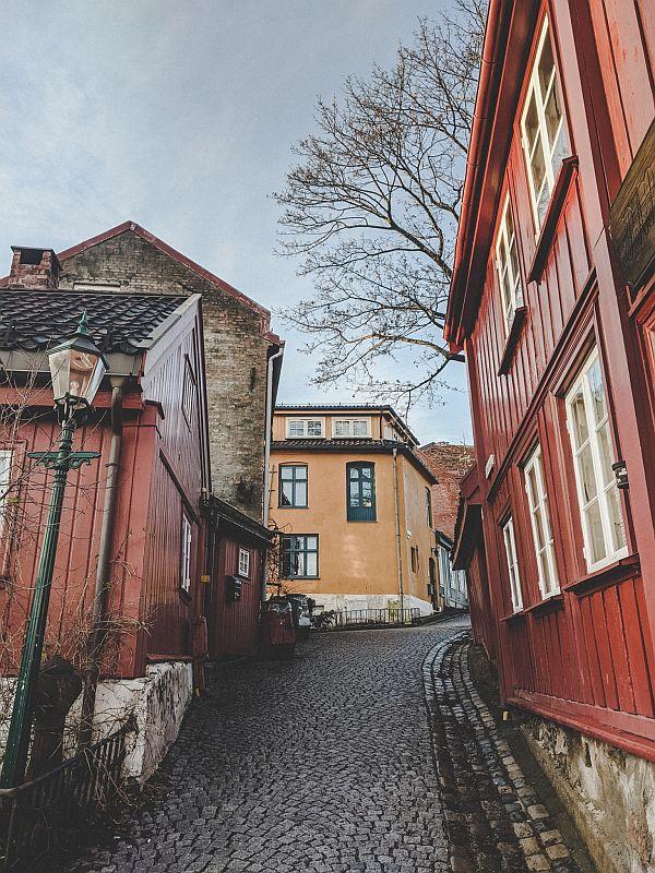 Oslo im Winter - Damstredet Aufgang