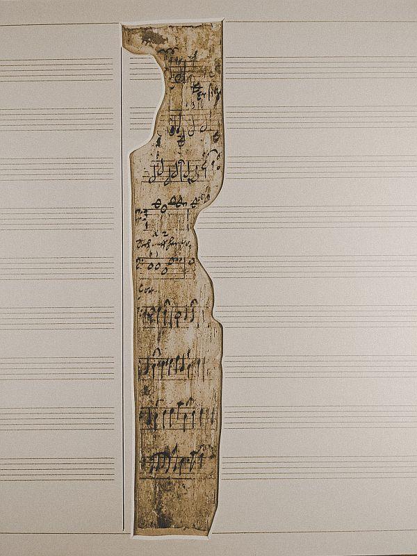 Notenfragment von Heinrich Schütz