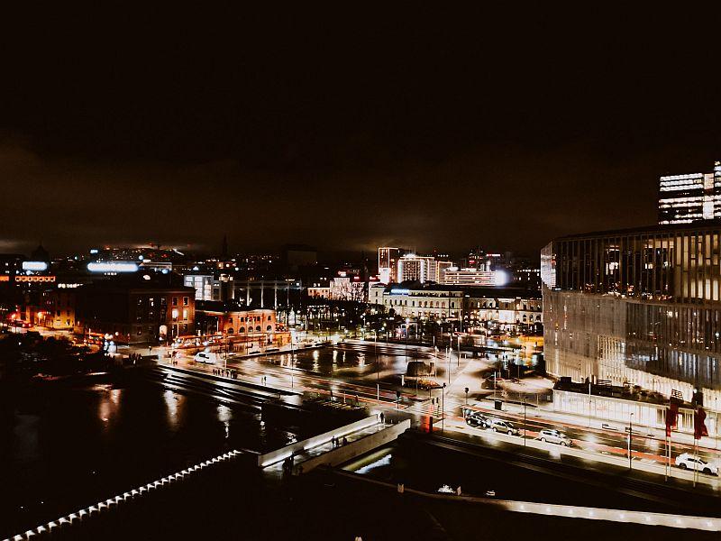 Oslo im Winter - Die Innenstadt am späten Nachmittag
