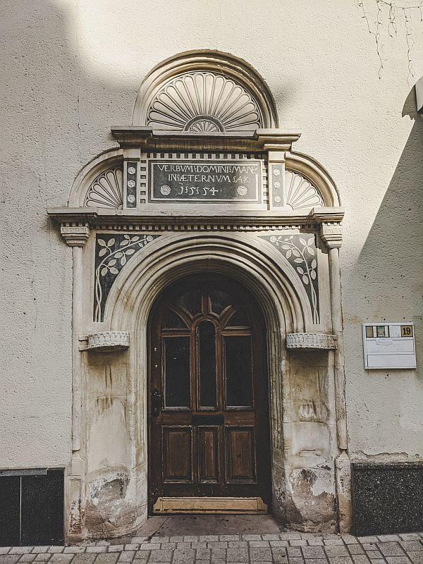 Weißenfels Sehenswürdigkeiten - Tür in der Jüdenstraße