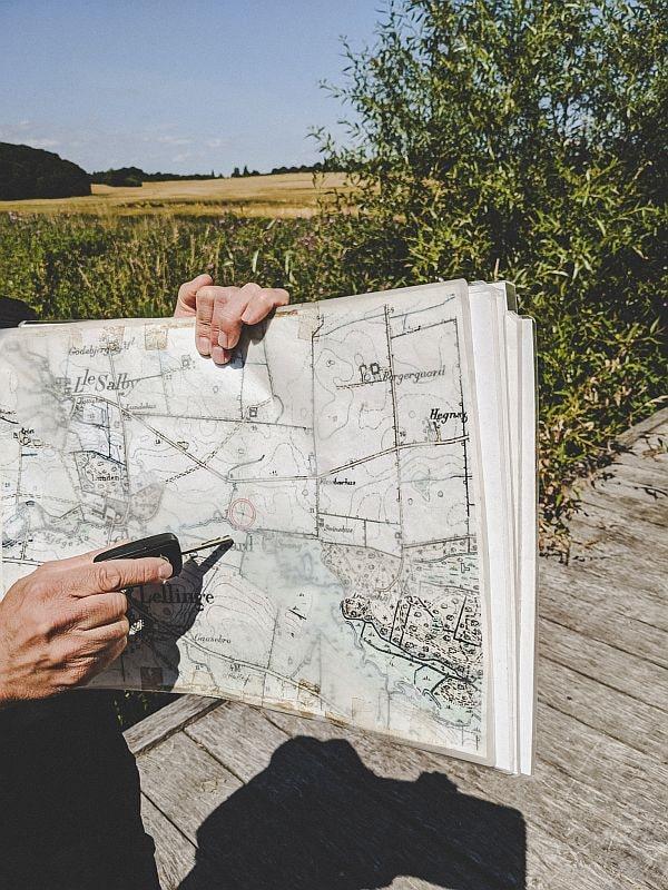 Landkarte und genauer Standort der Festung