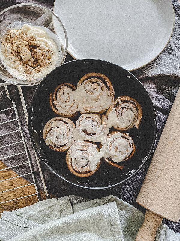 Leckere Zimtschnecken aus dem Ofen
