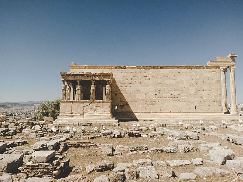 Die Karyatiden vom Erechteion in Athen