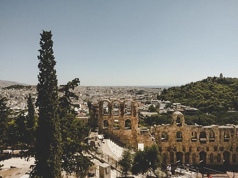 Das Odeon in Athen