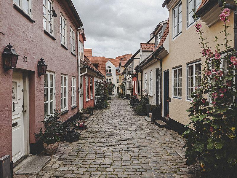 Dänemark Roadtrip - Gasse Hjelmerstald in Aalborg